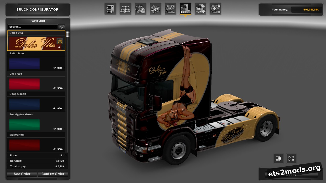 Dolce Vita Skin for Scania RJL