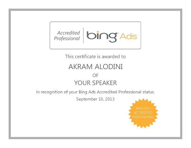 Bing Ads Accredited Professional