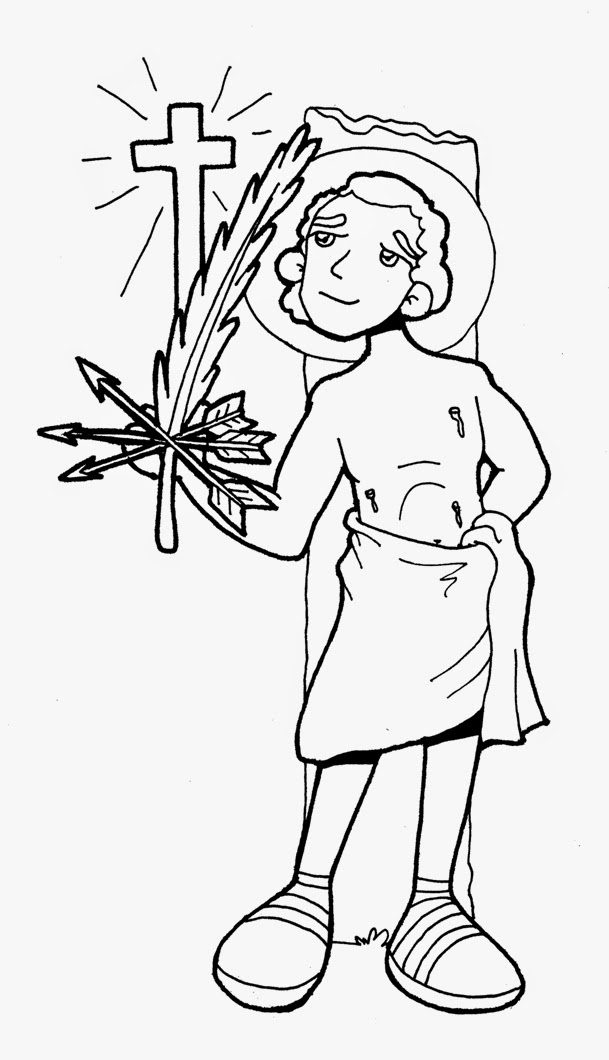st sebastian coloring pages - photo#7