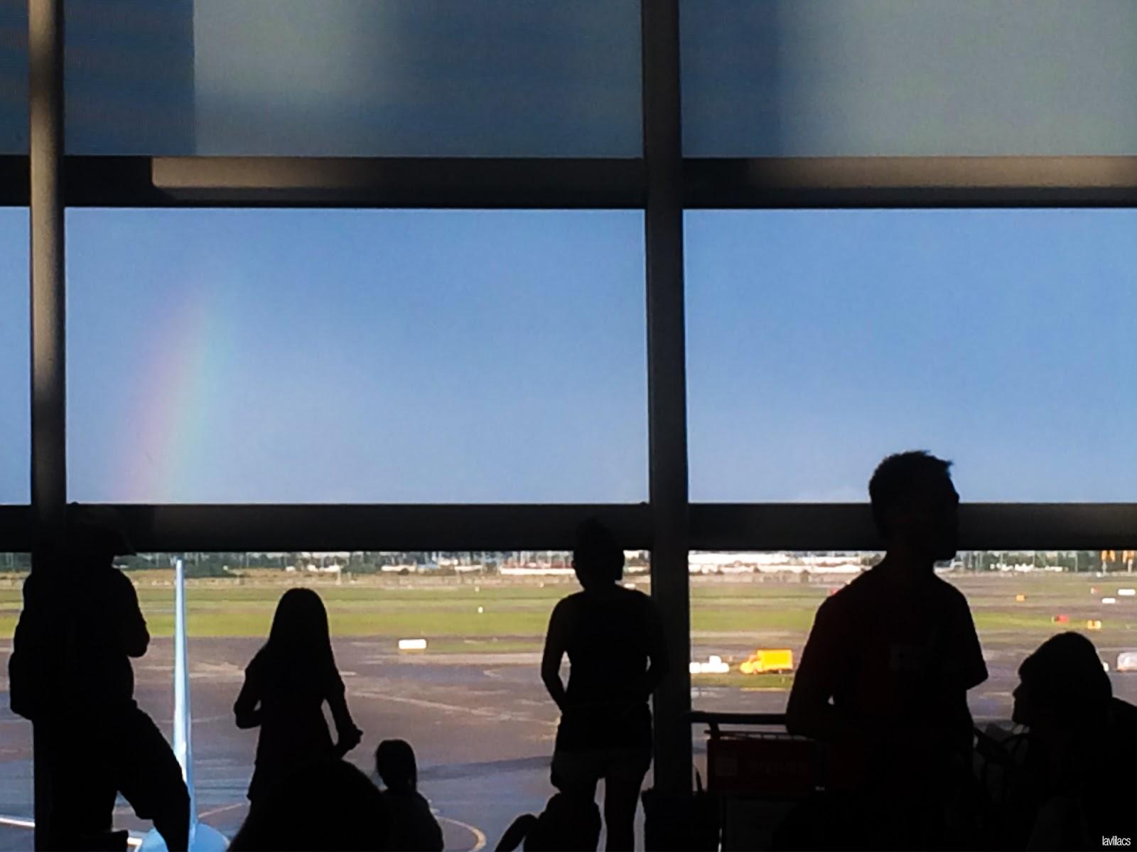 Seoul, Korea - Summer Study Abroad 2014 - Rainbow spotting and a delayed flight
