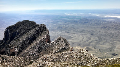 A view of the valley from the Guadalupe Peak mountain trail.