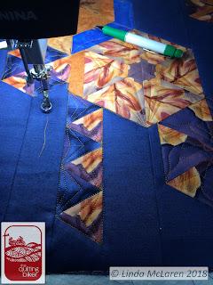 Modern Mini Swap quilt under construction - quilting