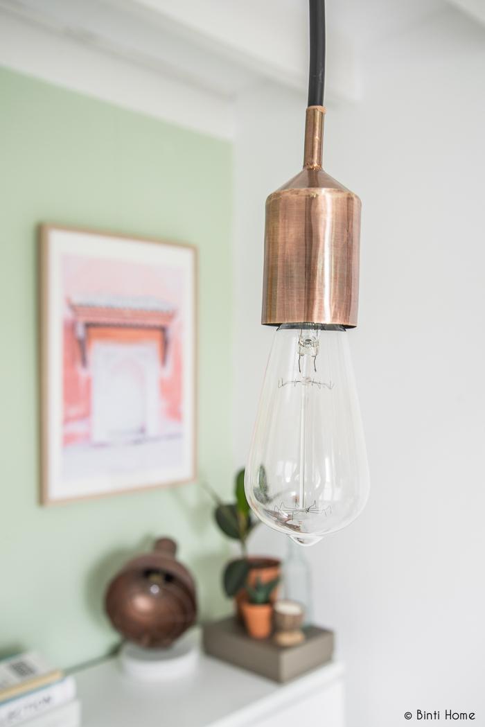 Doe het zelf lamp boven bureau Binti Home