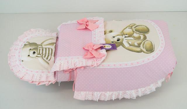 funda capazo baby jogger city mini 4 osos rosa