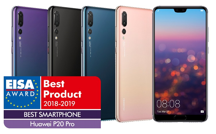Huawei P20 Pro Wins EISA's Best Smartphone of the Year Award