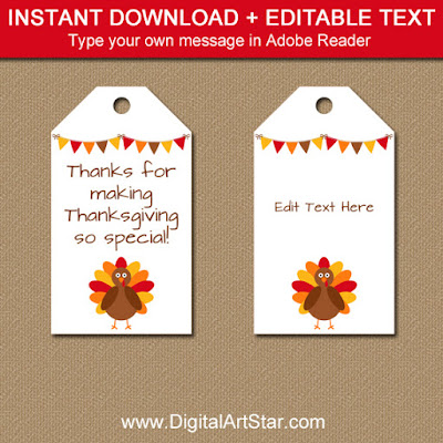 printable thanksgiving tags with editable text