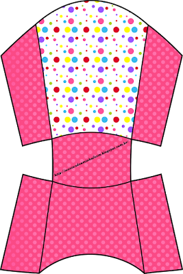 Colored Dots for Girls Free Printable Fries Box.