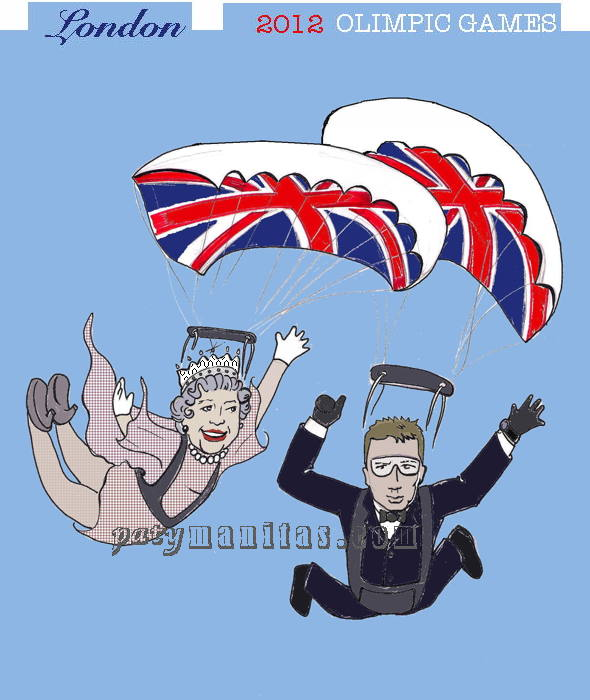 England queen & James Bond