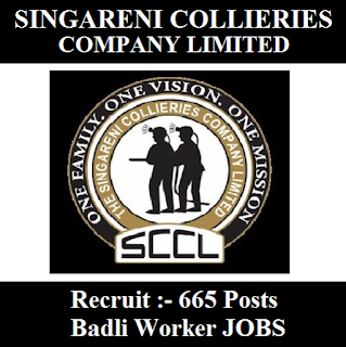 Singareni Collieries Company Limited, SCCL, Telangana, 10th, Badli Worker, Sarkari Naukri, freejobalert, Latest Jobs, sccl logo