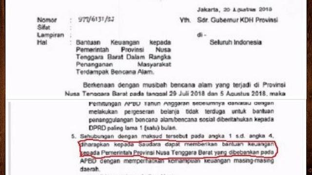 Fahri Curiga Pemerintah Tak Punya Uang, Bongkar Surat Mendagri Minta Duit ke 33 Gubernur