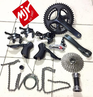 Groupset Shimano 4700 Tiagra Road Bike 2x10 Speed Kabel Dalam