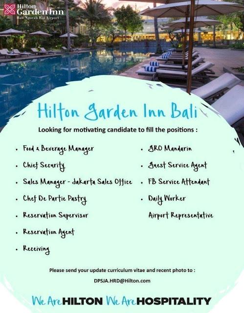 Lowongan kerja Hotel Hilton Garden Inn Bali