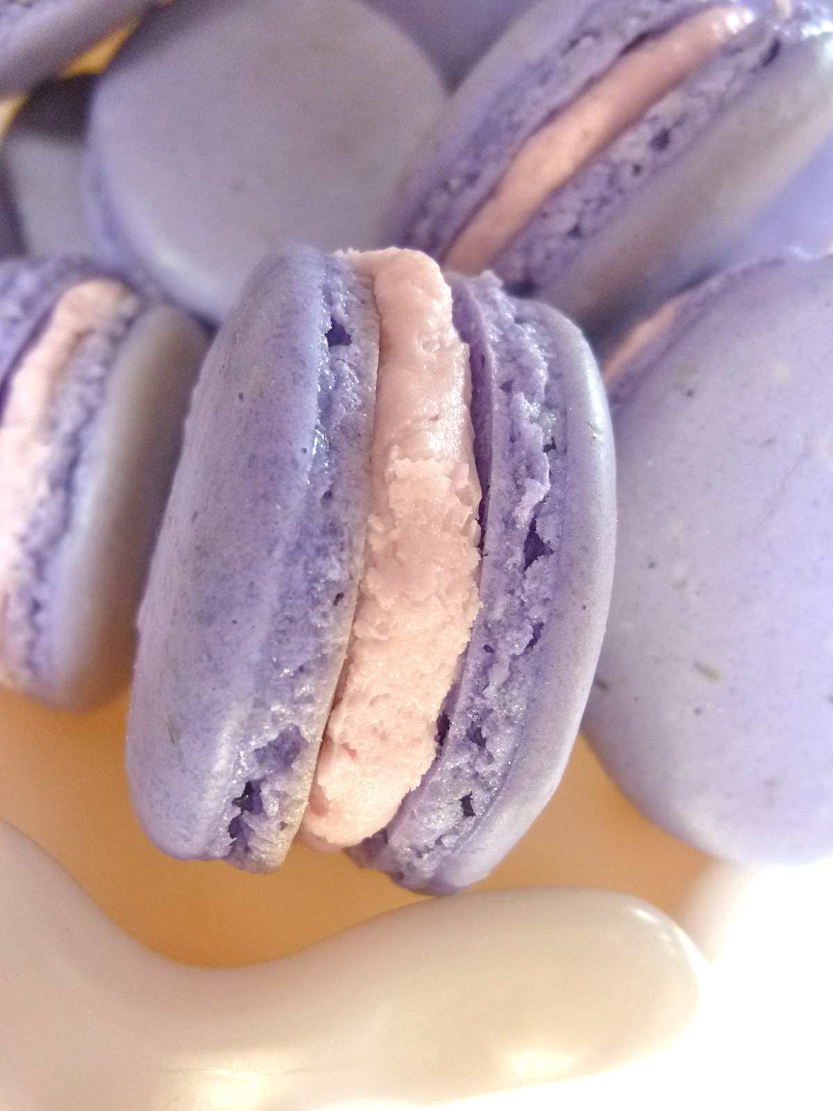 Lavender Macarons with Orchid Buttercream – Diary of a Mad Hausfrau