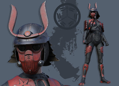 Sci-fi Samurai Outfit for Genesis 3 Female