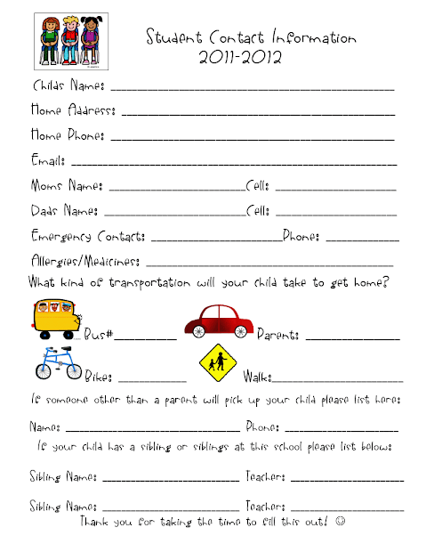 Get to Know Your Students Worksheet