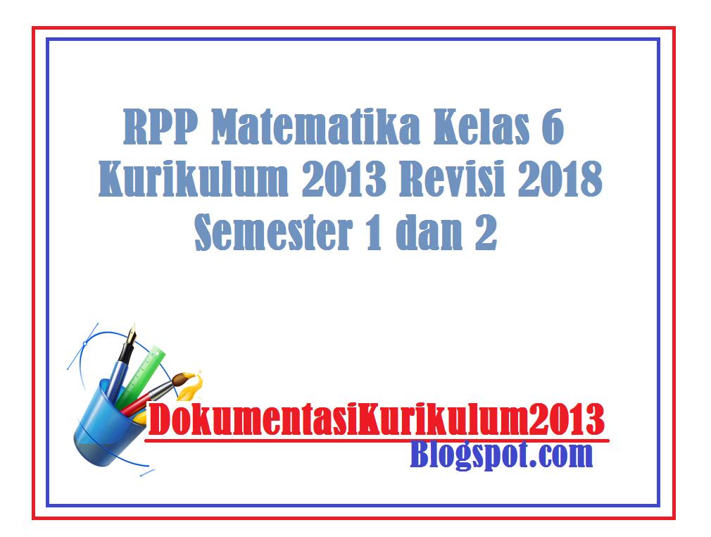 Download RPP Matematika Kelas 6 Kurikulum 2013 Revisi 2018 ...