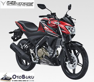 All New Vixion Warna Red Black / Merah Hitam
