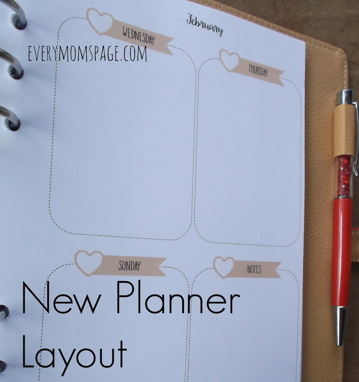 2nd Planner: New Planner Layout