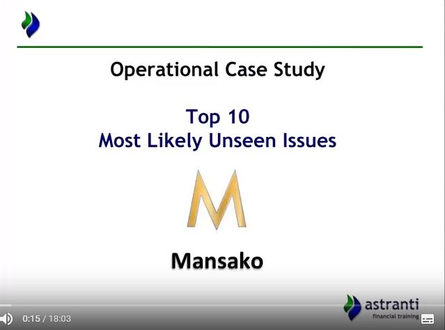 Top 10 issues video for CIMA OCS May 2018  - Mansako Case study