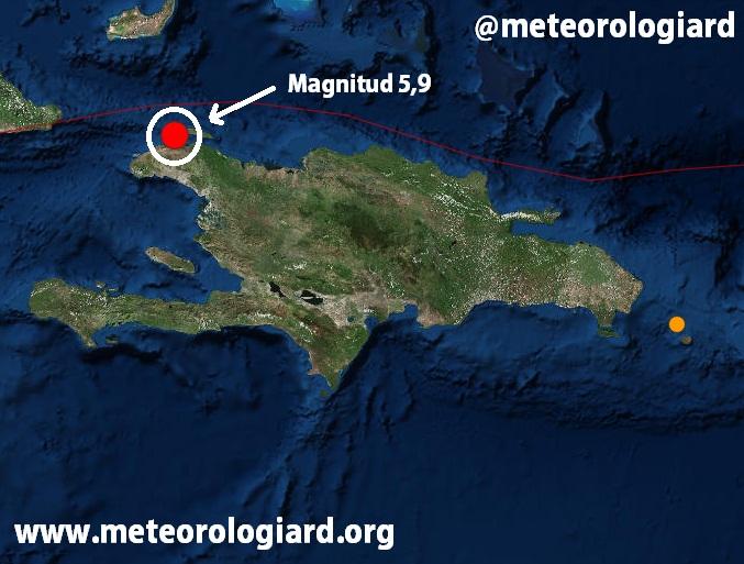Sismo de 5,9 en el Noroeste de Haití