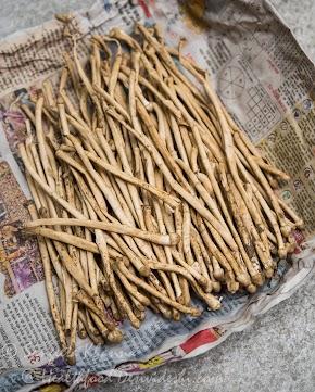 wild mushrooms (dharti ka phool) : pearl barley risotto with wild mushrooms and garlic chives