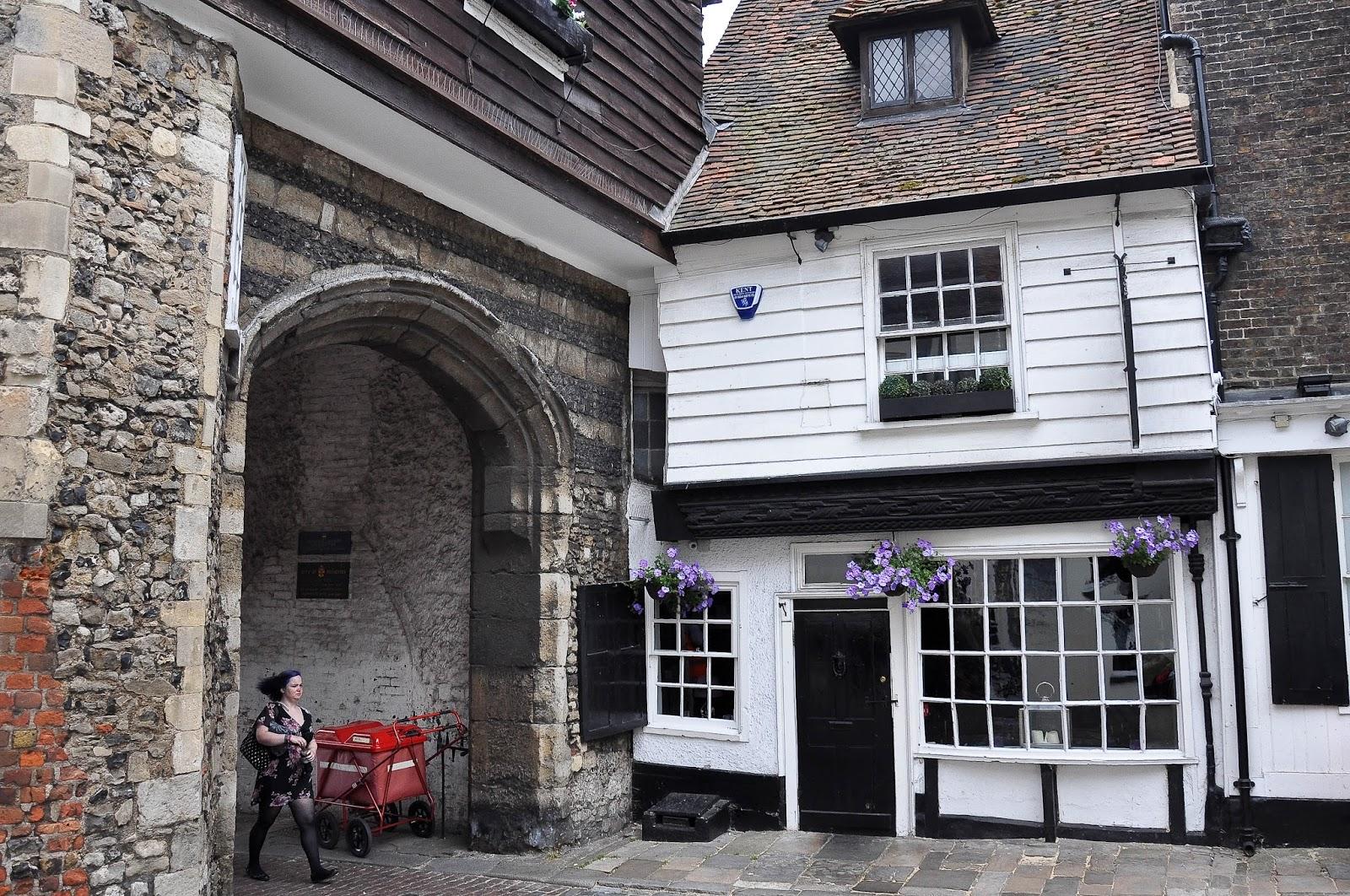 Quirky house, Rochester High Street, Kent, UK