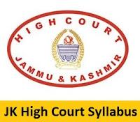 JK High Court Syllabus