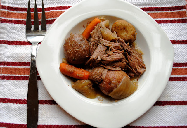 Crock Pot Beer Roast from Neighborfoodblog.com