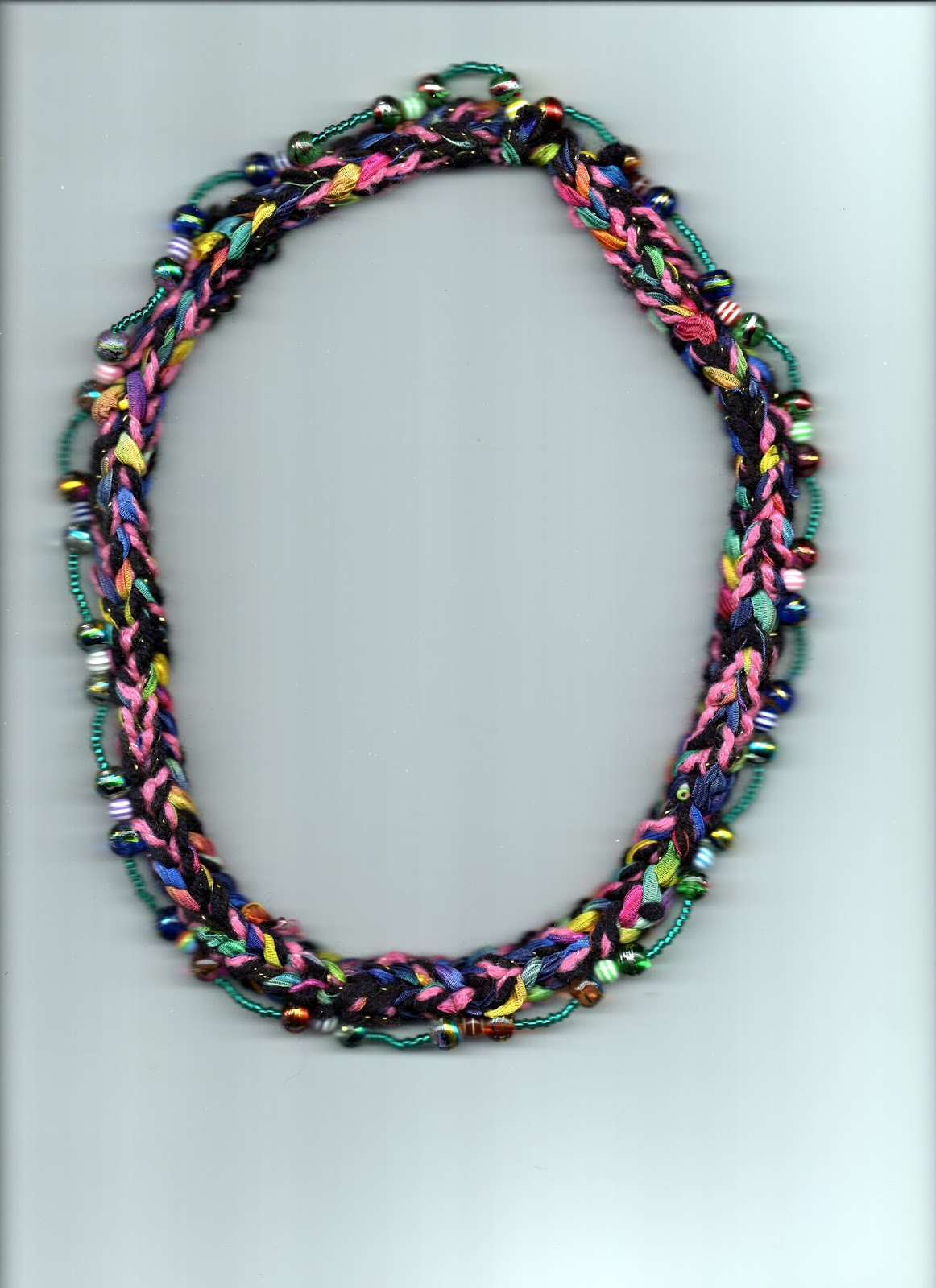 French Knitting With Beads : Autumn gal today is my french knitter beaded necklace