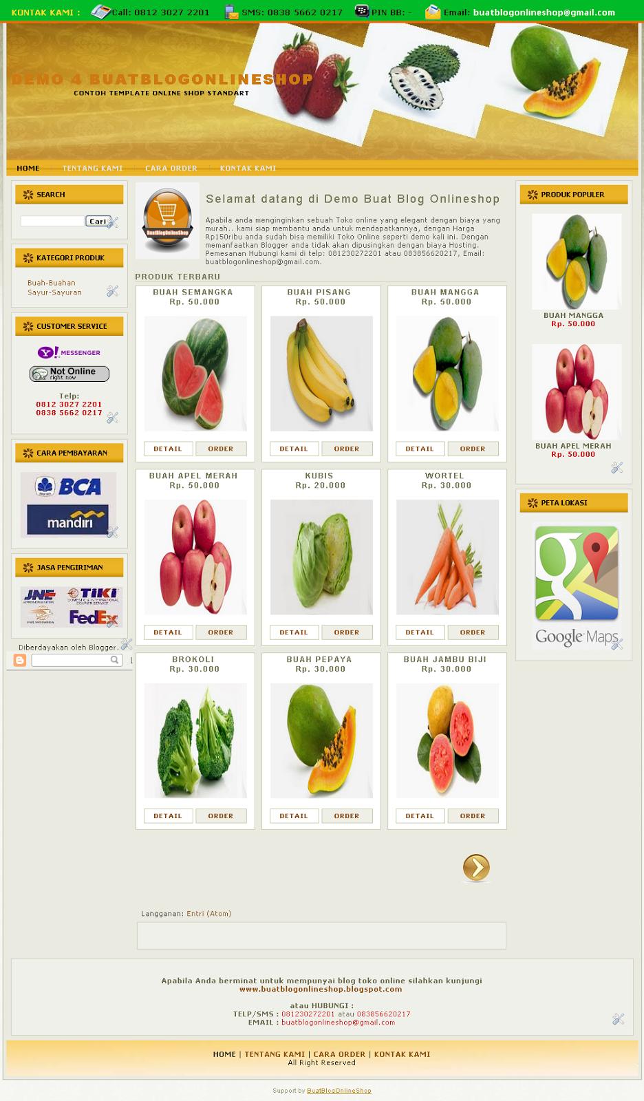 Blog shop online