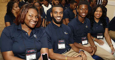 Black scholarship recipients of the Thurgood Marshall College Fund MillerCoors scholarship