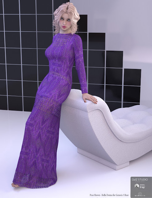Bella Donna Dress for Genesis 3 Female