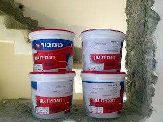 הצבעי שהוא במקרה גם הטייח הביא לנו דוגמאות צבע לבית לקראת צביעת הבית
