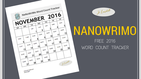 #NaNoWriMo 2016 Word Count Tracker #NaNoPrep