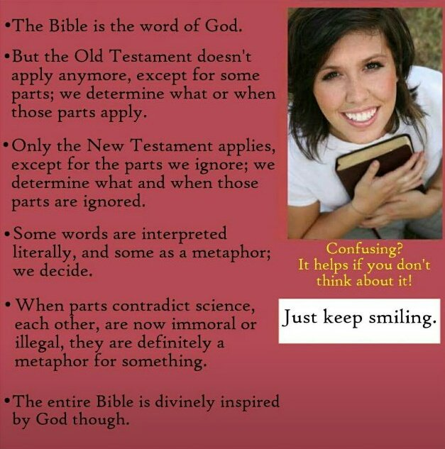 The Bible Is The Word Of God, But... Funny religious meme