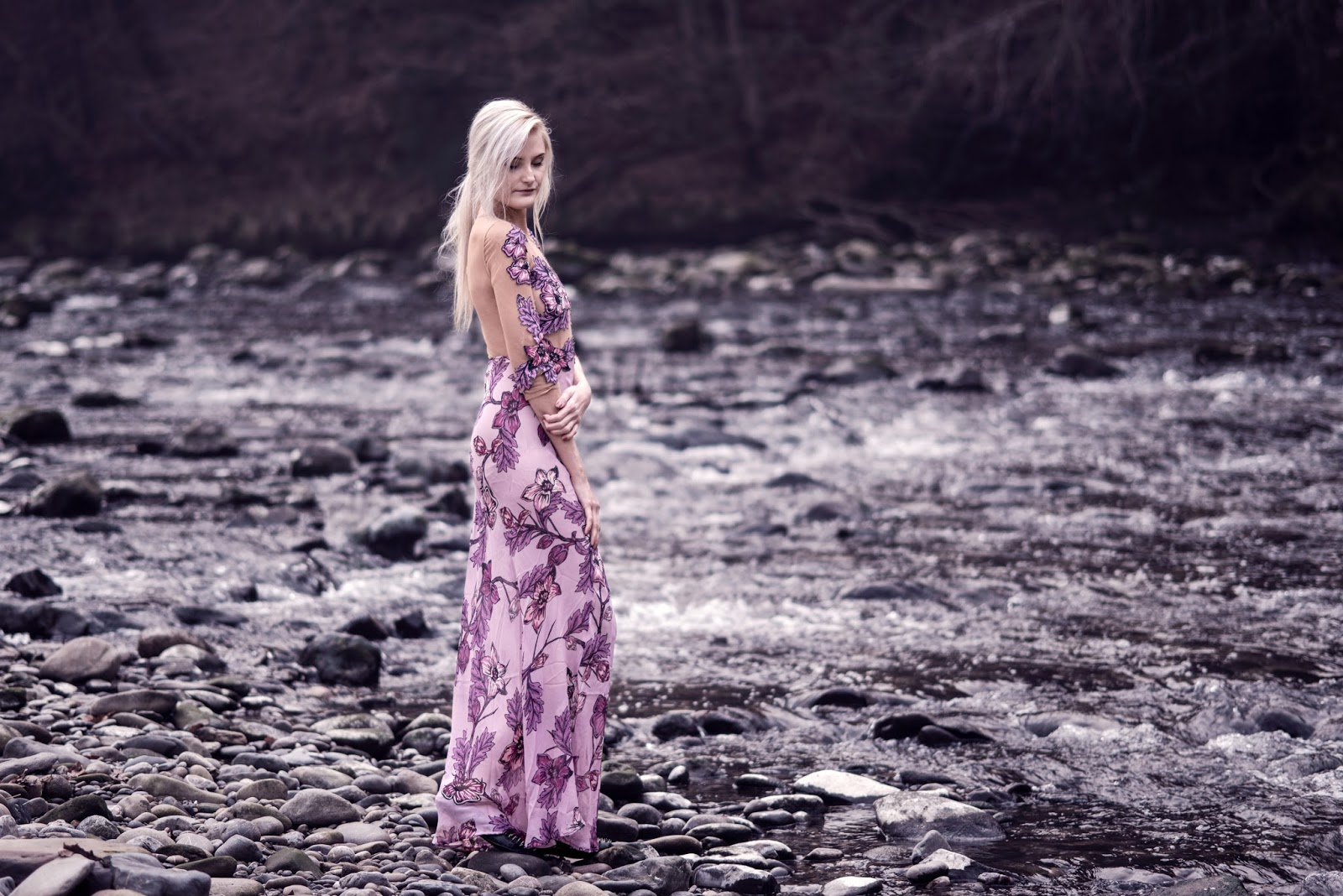 For Love & Lemons Sierra Maxi Dress in Pink | Photography by Moonlight Bohemian