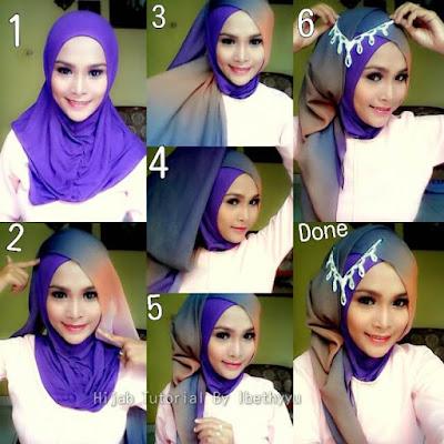 Tutorial Hijab Pengantin Muslimah dari Video Youtube untuk Resepsi Pesta Pernikahan cocok juga untuk Akad Nikah