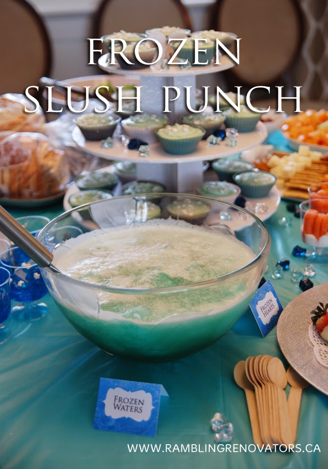 disney frozen birthday party slush punch recipe