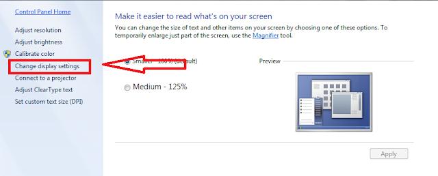 tối ưu màn hình windows 7