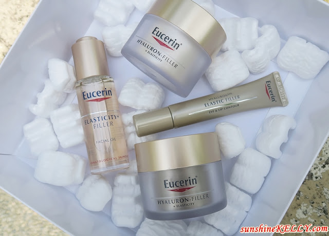 Eucerin Hyaluron-Filler + Elasticity Skincare, Serum in Oil, Eye Care, Day Cream, and Night Cream