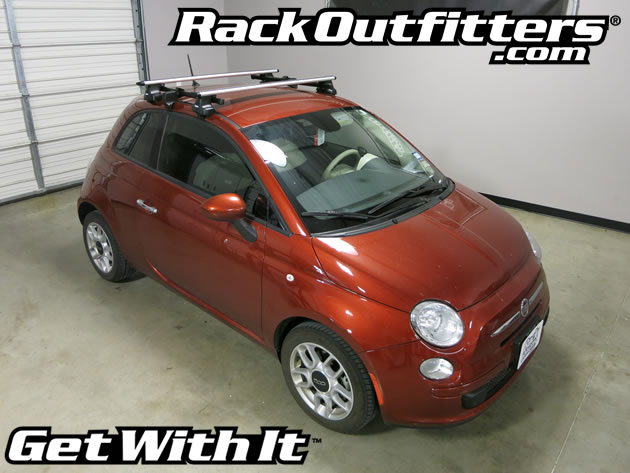 Fiat 500 Thule Rapid Traverse Silver Aeroblade Base Roof