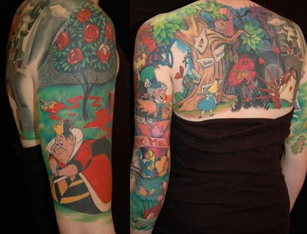 Story Sleeve Tattoo: Little Jackrabbits: Alice's Tattoos