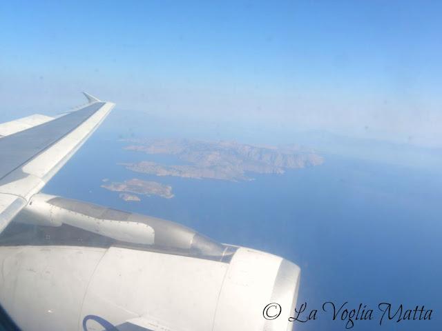 in volo verso Rodi