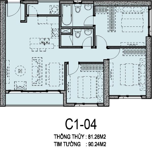 can-ho C1-04-vinhomesd'capital-tran-duy-hung