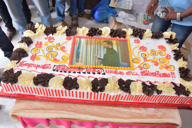 Actor Arun Vijay Birthday celebrations with his Fans