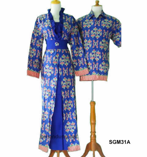 Gambar Model Batik Sarimbit Terbaru 2013: Model Baju Batik Couple Pasangan Modern Terbaru