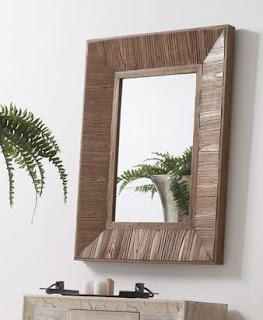 Espejo Cuadro Madera Reciclada Artison