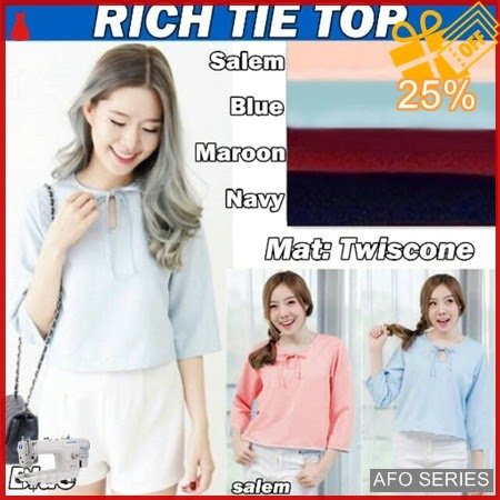 AFO120 Model Fashion Rich Tie Top Modis Murah BMGShop