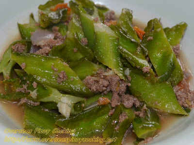 Ginisang Sigarillas with Sampaloc