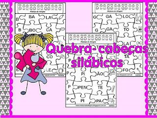 Alfabetização quebra-cabeças